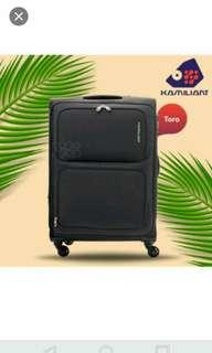 "Kamiliant 30"" inch Large softside luggage / Black color / Free $8.00 Tangs shopping valued card"