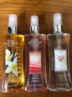Body Fantasies Fragrance Body Mist Spray