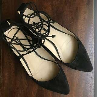 Zara Black Pointy Flats