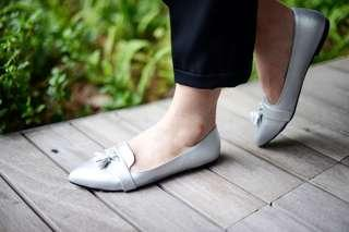 Tassels Silver Casual Flats By Buckle Up INSTOCK 35-40