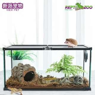 Glass Tank for Reptile / Snake / Tortise / Frog / Scorpion