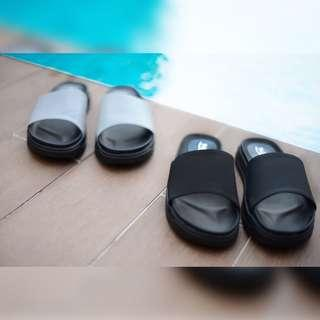 Grey platform sandals by buckle up INSTOCK 35-39