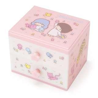 Sanrio little twin stars 雙子星 kiki lala ts twinstar 公仔 二段膠櫃盒