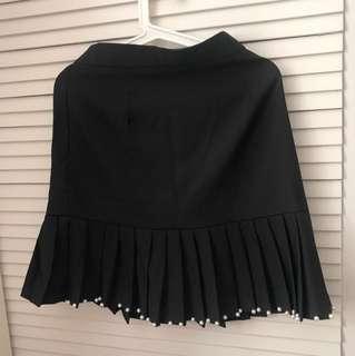 Korean Black Skirt韓國製黑色西裙斯文裙