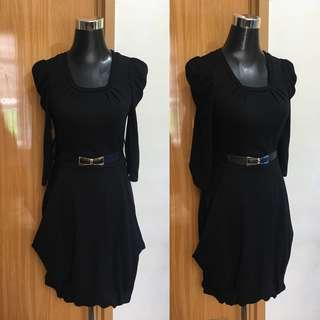 Black  3/4 Sleeve Dress