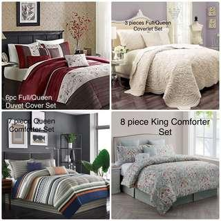 Brand New Comforter/ Duvet/Coverlet Sets in King and Queen sizes