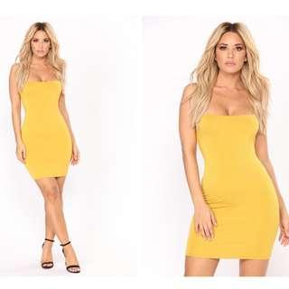 MUSTARD FASHION NOVA DRESS