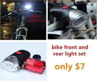 bike strong front light and rear light set