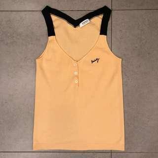 Brand new Sonia Rykiel 黃色針織背心yellow top Made in France