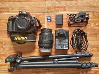 Nikon DSLR D5100 with 18-55 VR kit lens