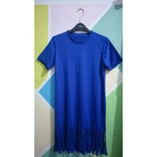 Dress rumbai (biru elektrik)