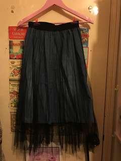 韓國 兩層 網紗lace 裙