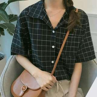 [interest check] oversized plaid blouse