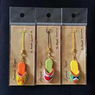 Peranakan Mini Beaded Shoes Keychain