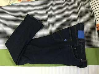 "Original Adidas denim pants size 31-33"" slim straight"