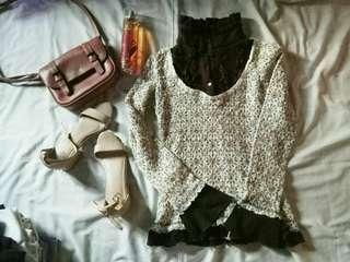 Knitted Tneck Top