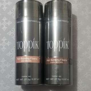 🚚 BN Toppik Hair Building Fibers Black, Dark Brown, Med Brown, Auburn, Camouflage Thinning Hair