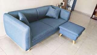 3 seater sofa with stool