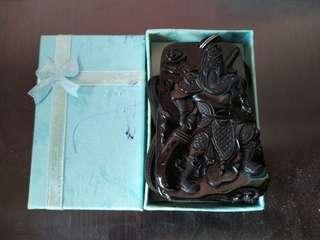 Black Jade Guan Yu Pendant
