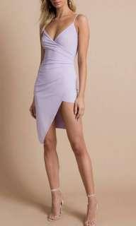 Wrap Around Assymetric Slit Dress