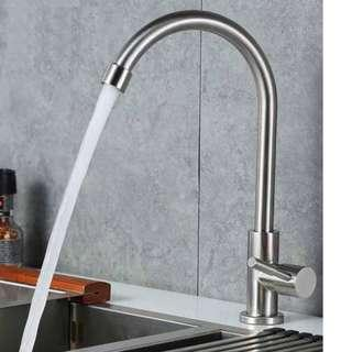 SUS 304 Stainless Steel Tap / Kitchen Tap / Basin Tap