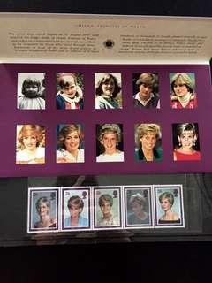 Diana, Princess of Wales Presentation Pack with 5V Setenant Mint NH