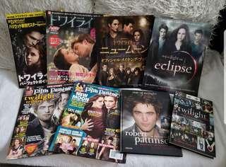 8 x TWILIGHT SAGA Limited Edition movie magazines & books