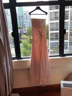 Ferragamo evening dress powder pink