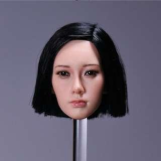 1/6 scale toy female asian girl head sculpt