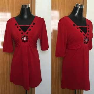 Red Tieable Blouse