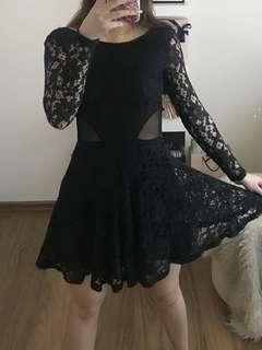 Lacey cut dress