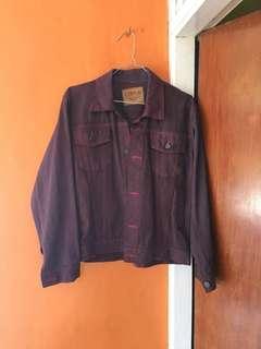 Jaket jeans burgundy