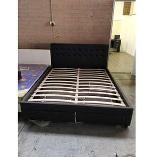 Pu Leather bed with drawers