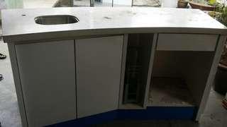Kitchen cabinet with sink