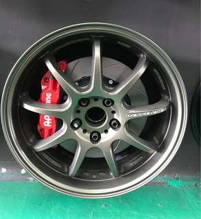Sportrim  WORK EMOTION D9R 18x7.5j pcd 114.30 made in japan