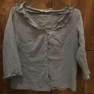 Blouse dusty blue