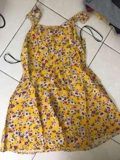 jual floral dress forever 21 murah