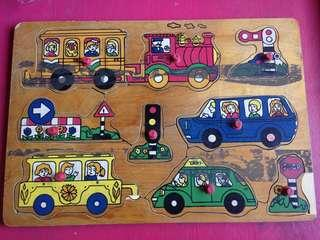 Preloved wooden puzzle