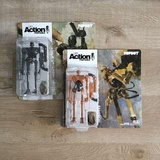 Price for both Threea popbot badbot 1/12 scale carded figure 3A sangreal badbot