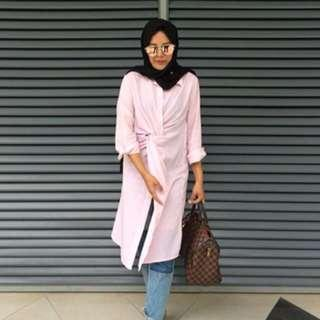 Knot blouse striped