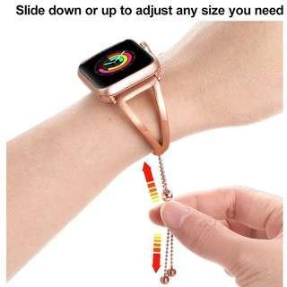 Instock New JANSIN - Apple Iwatch Strap Rose Gold