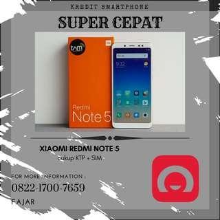 Jual Xiaomi Redmi Note 5 murah meriah bisa kredit cepat