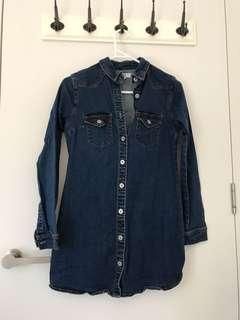 Seed denim long top