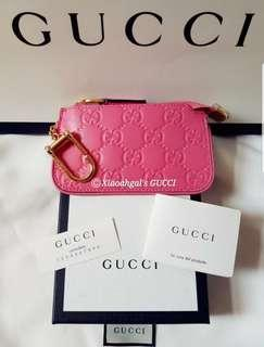 💟MY Followers (Member SALES!)💟🎉AUCTION🎉❌Non Members Pls Wait for Members to choose👛AUTHENTIC BRAND NEW+🌟RECEIPT🌟👛🌼Limited Edition🌼GUCCI Rose Pink Money Cards + Key ring holder Purse/Wallet💋No Pet No Smoker CLEAN hse💋