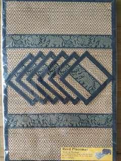 Reed placemats - set of 6 with coasters