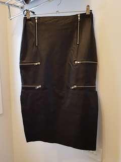 Bettina Liano Leather Split Skirt