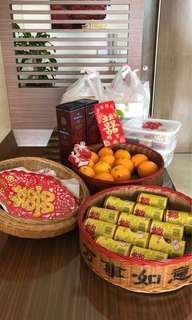Traditional Guo Da Li Wedding Betrothal Basket Rental