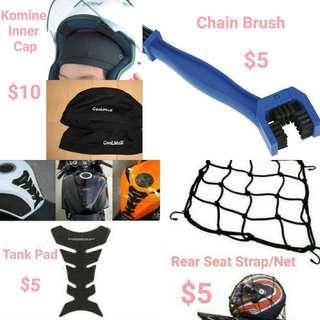 Komine Inner Cap/Chain Brush/Tank Pad/Strap