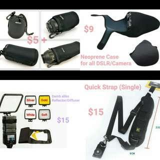 Matin Lens Pouch/Neoprene Case/Demb alike Reflector/Diffuser/Single Quick Strap