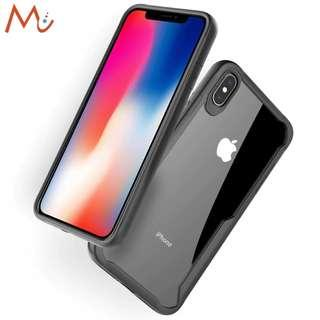 Instock #JANSIN Apple IPhone XS Max Clear Case Rugged